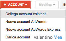 collegare account AdWords al Centro Clienti