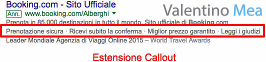 Estensioni Callout Google AdWords