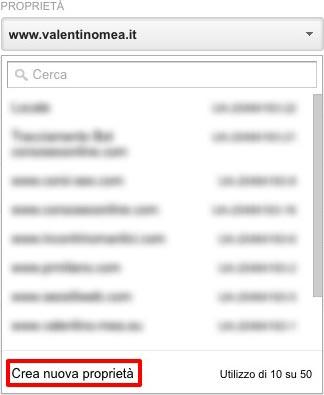 aggiungere altro sito Google Analytics