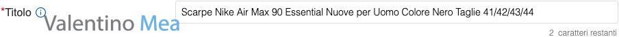 Titolo inserzione eBay ottimizzato