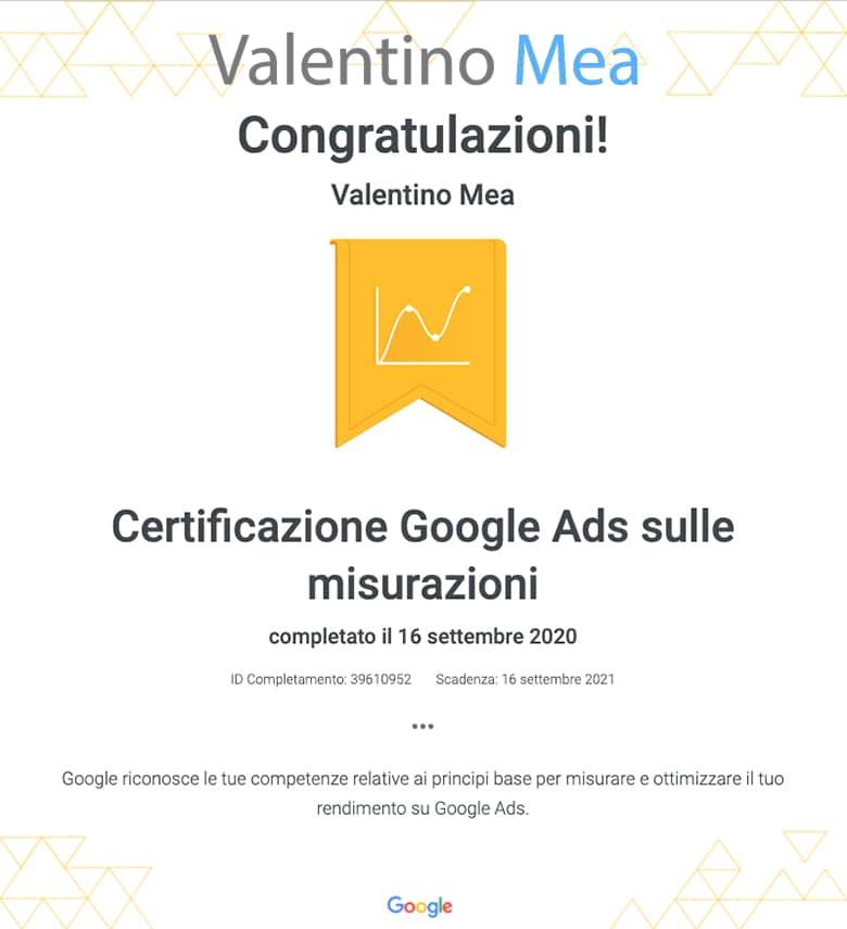 Certificazione Google Ads Specialist