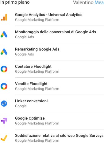 tag predefiniti Google Tag Manager