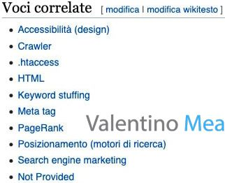 Wikipedia voci correlate