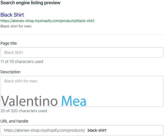 Shopify modifica meta tags