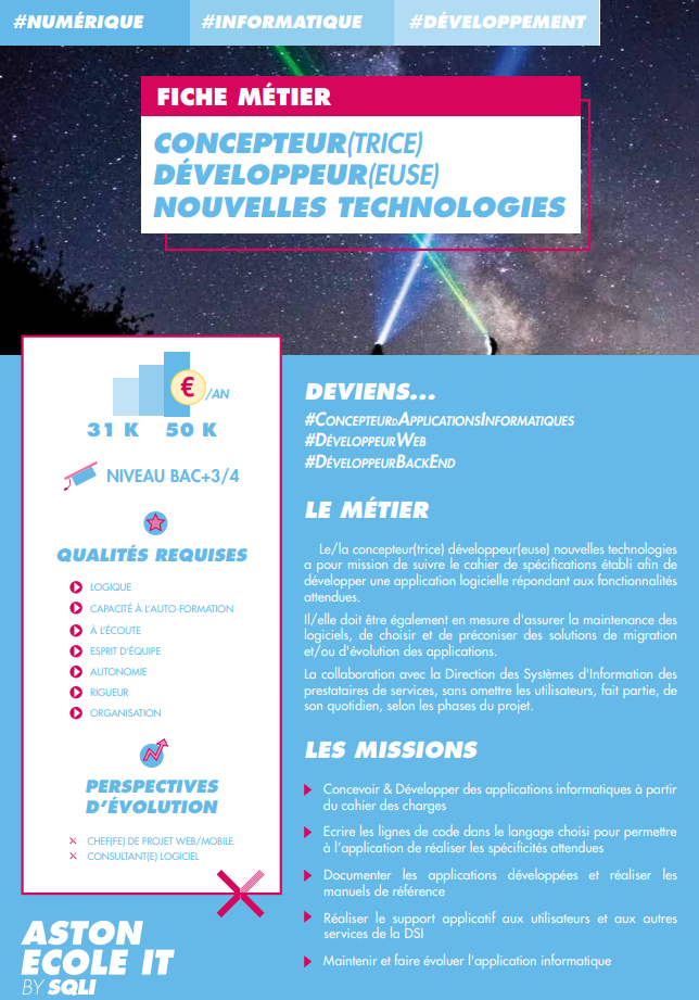 Concepteur-trice Développeur-euse en Nouvelles Technologies