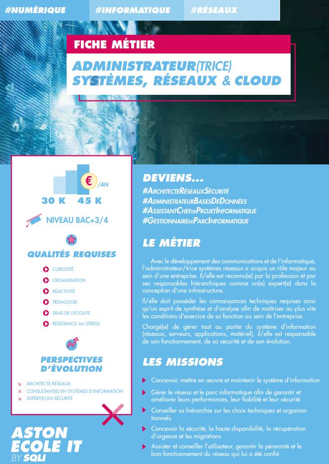 Administrateur-trice Systèmes Réseaux et Cloud