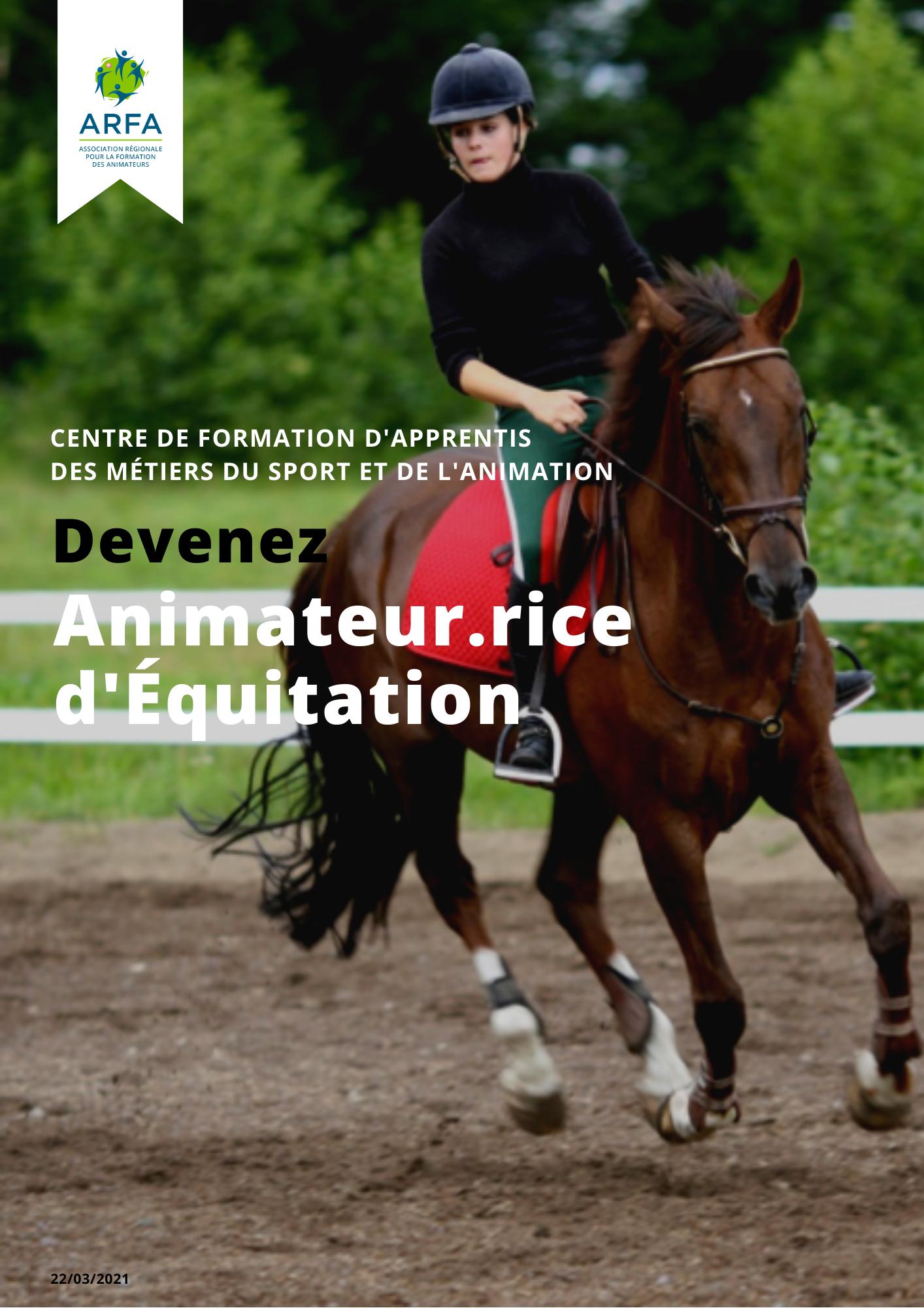 Fiche Titre Animateur d'Equitation