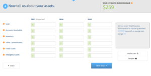 bizequity business valuation calculator assets