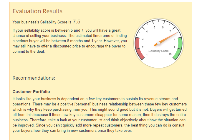 Business Valuation Tool Sellability Adviser ExitAdviser