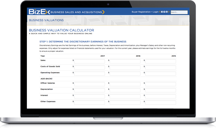 They Also Provide A Free Business Valuation Calculator On Their Website.  The Valuation Report Can Be Saved By Leaving ...