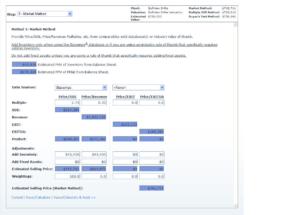 Data input for market method
