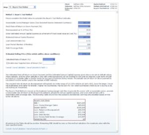 Buyer's test method