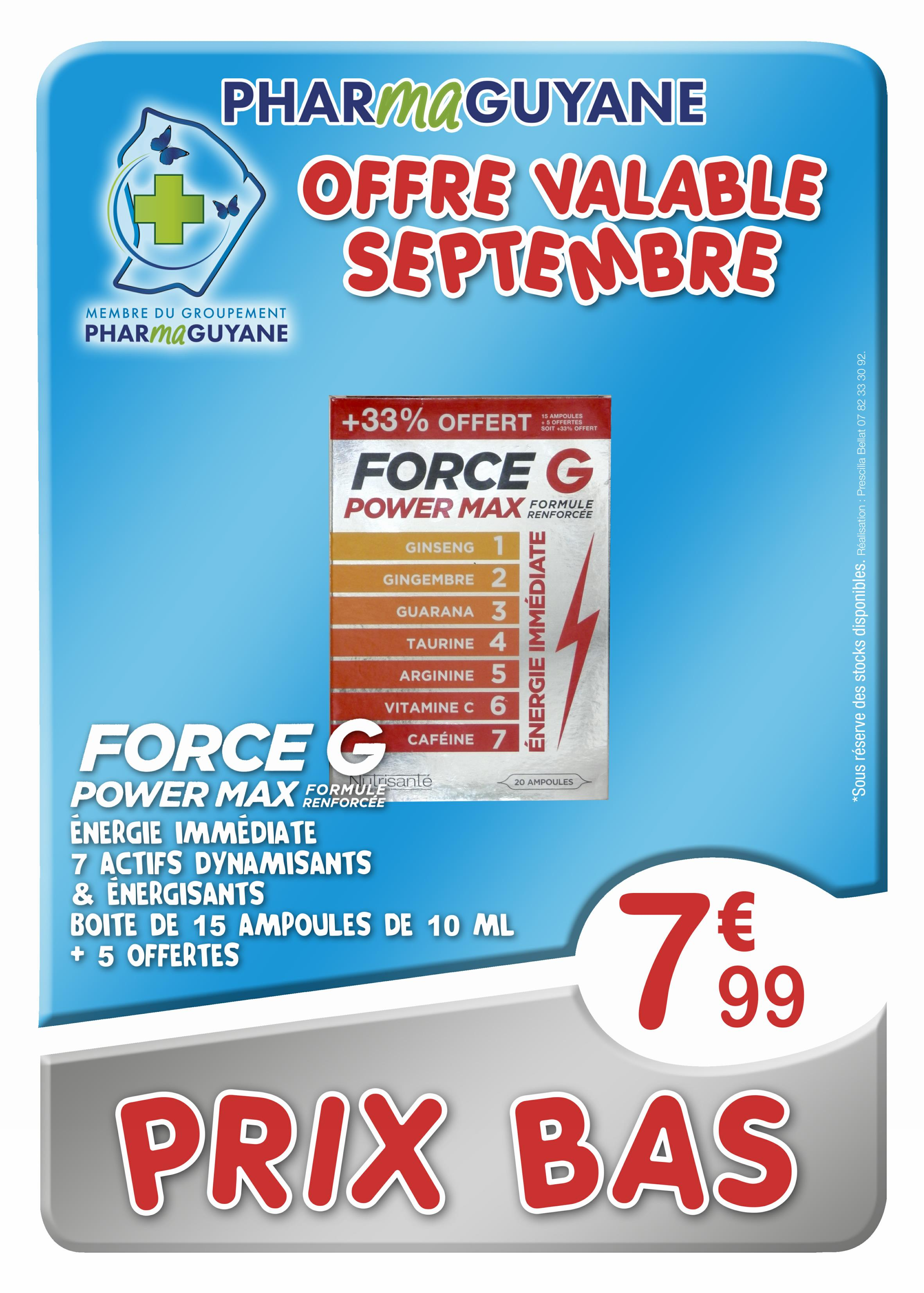 FORCE G Power Max 20 ampoules