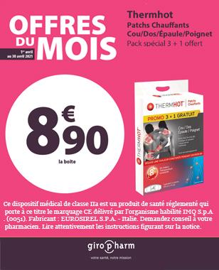 Offre Spéciale THERMHOT PATCHS CHAUFFANTS COU/DOS/EPAULE/POIGNET