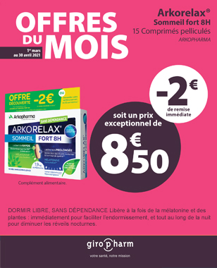 Offre Spéciale ARKORELAX SOMMEIL FORT 8H