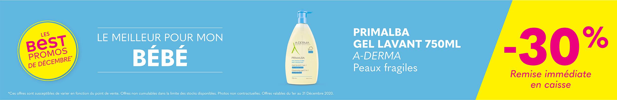 PRIMALBA GEL LAVANT 750ML - A-DERMA / Peaux fragiles