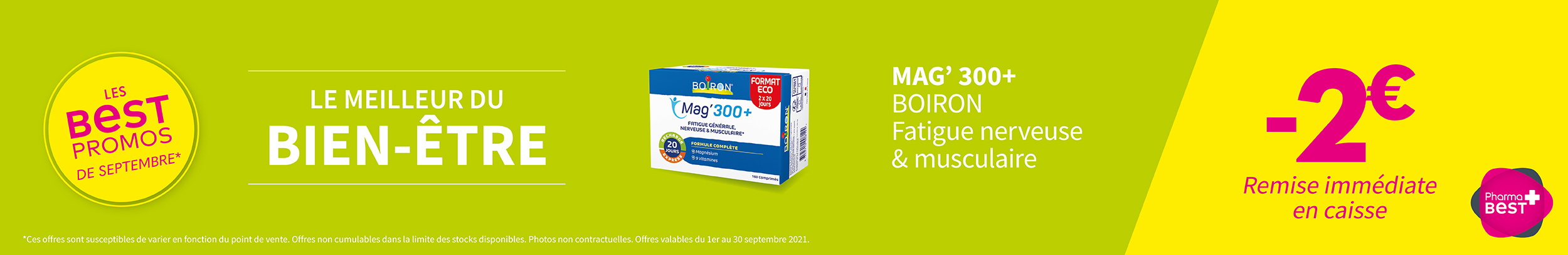 MAG' 300+ - BOIRON / Fatigue nerveuse & musculaire