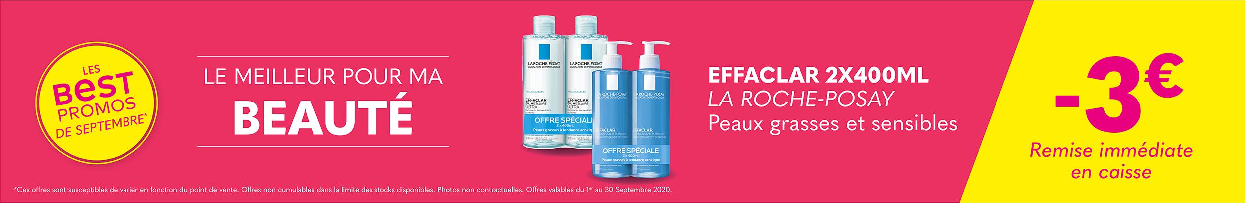 EFFACLAR 2X400ML - LA ROCHE POSAY / Peaux grasses et sensibles