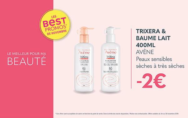 TRIXERA LAIT & BAUME 400ML - AVÈNE / Peaux sensibles sèches à très sèches