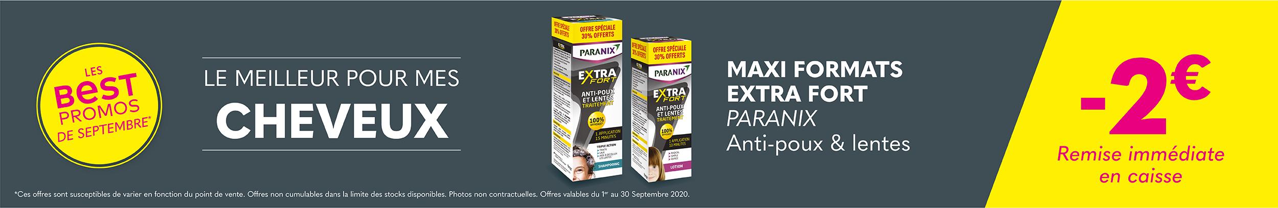 MAXI FORMATS EXTRA FORT - PARANIX  / Anti-poux et lentes