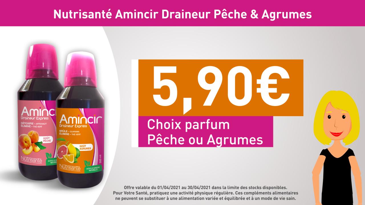 NUTRISANTE Amincir Draineur Pêche & Agrumes