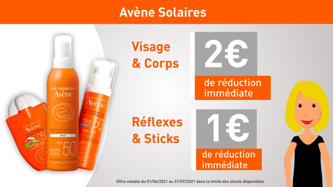 Avène Solaire Visage & Corps - Réflexe & Sticks