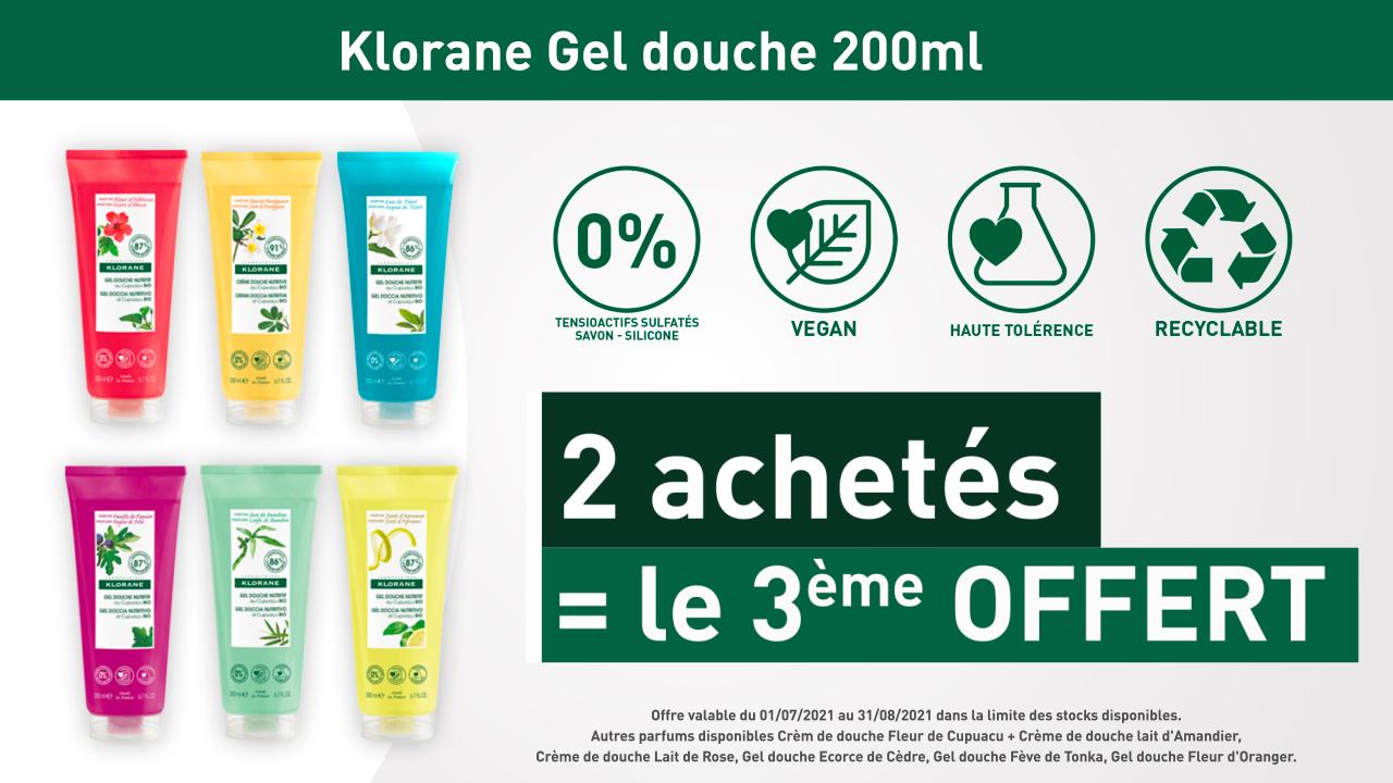 KLORANE - GEL DOUCHE 200ml