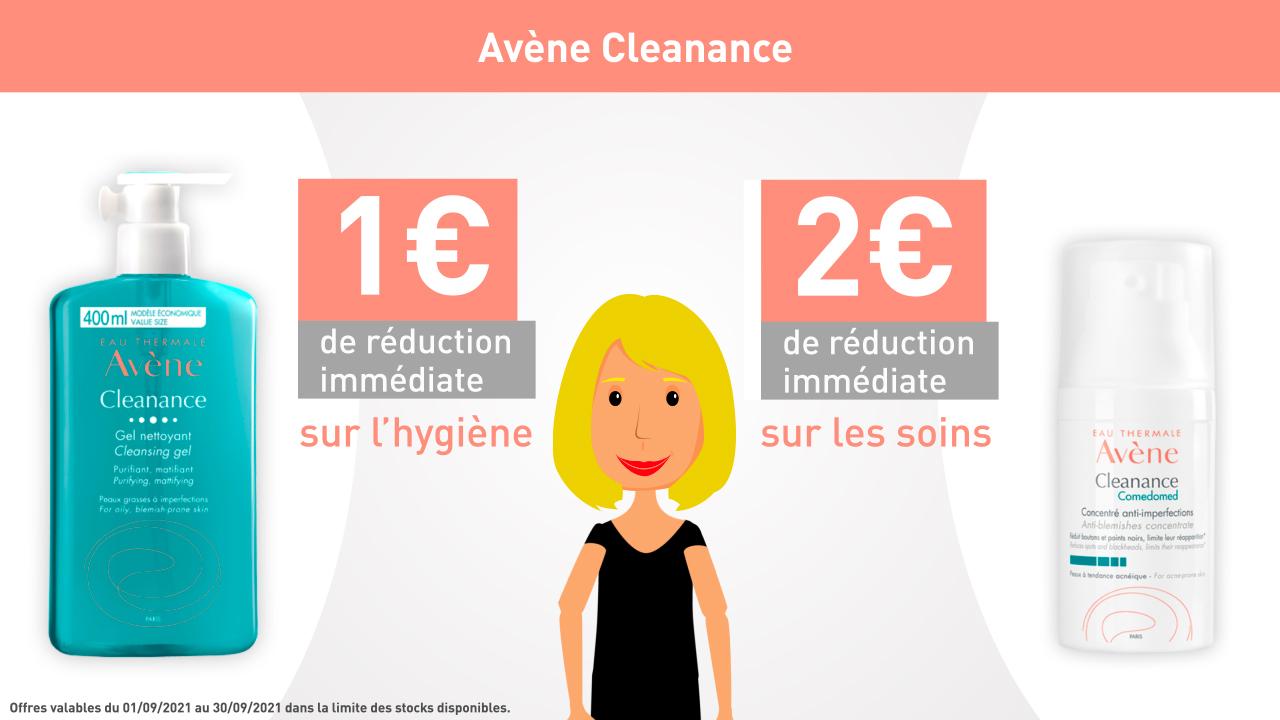 AVENE - CLEANANCE - 1€ de réduction immédiate sur l'hygiène
