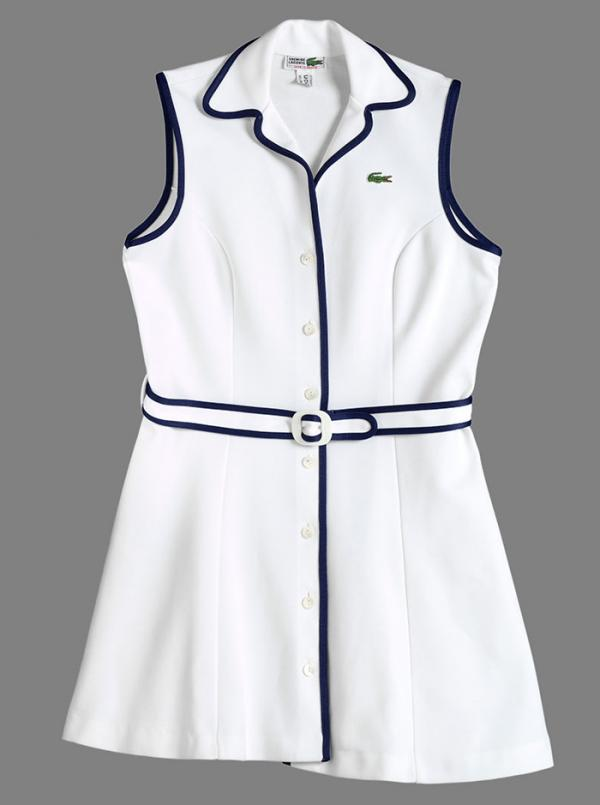 Tennis dress, Lacoste, 1970s. Museum no. T.586-1995. © Victoria and Albert Museum, London