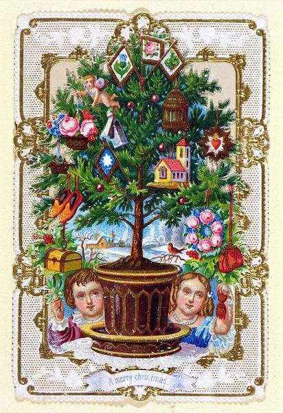 Christmas card, made in England, ca. 1860-1880, museum no. E.1925-1953