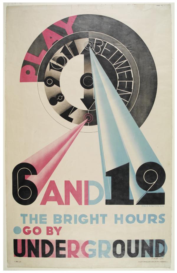 Poster, Edward McKnight Kauffer, 1930. Museum no. E.1238-1931