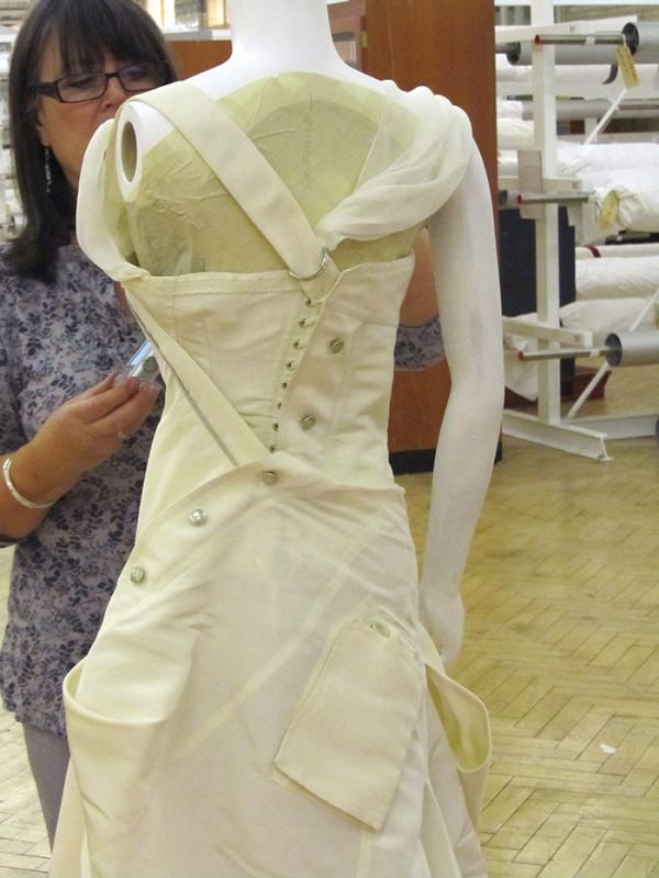 Wedding dress at the point of the second fitting. © Victoria and Albert Museum, London