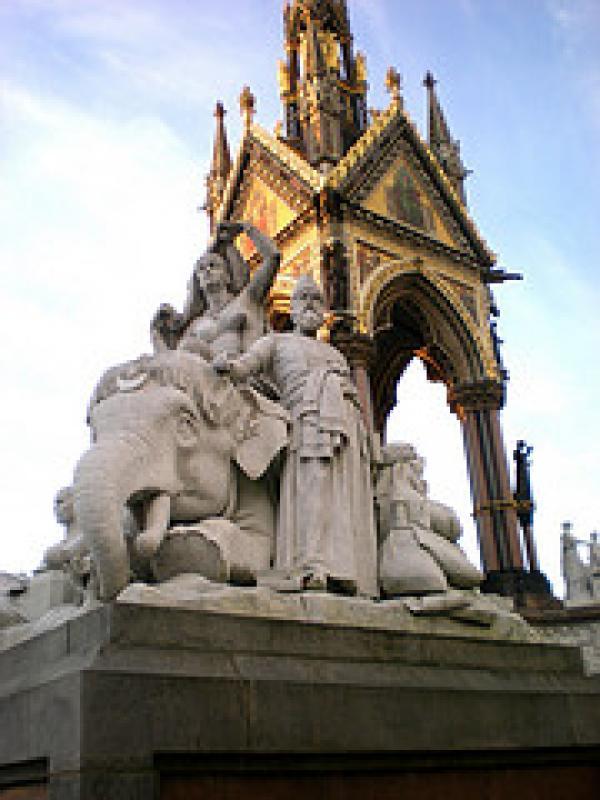 Albert memorial, 'Asia'