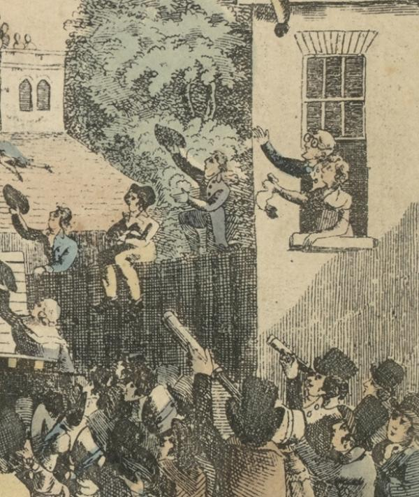Detail from 'a View of the Balloon of Mr Sadler's ...'