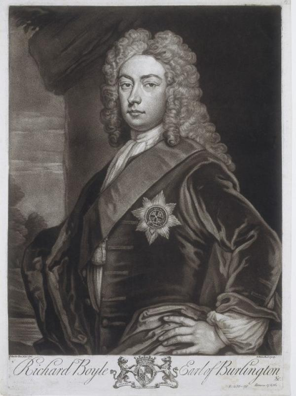 Richard Boyle, 3rd Earl of Burlington (1695 - 1753), mezzotint by John Faber II after a painting by Sir Godfrey Kneller
