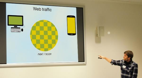 Loic Tallon with an amusing take on web statistics pie charts, suggesting that rather than thinking exclusive separate slices, web usage on mobiles and by other means are interchangable and people switch between them all the time