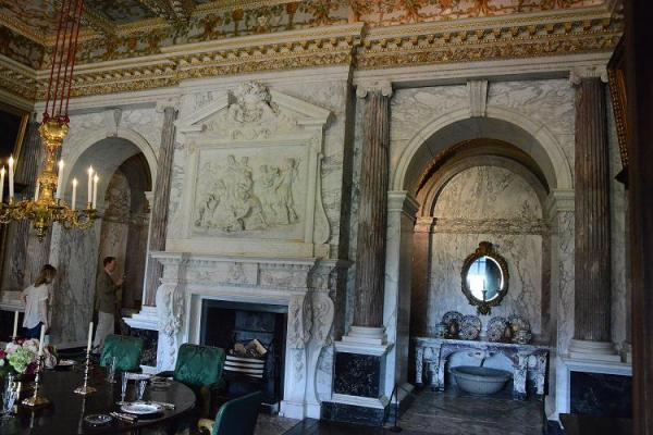 The dining room at Houghton Hall
