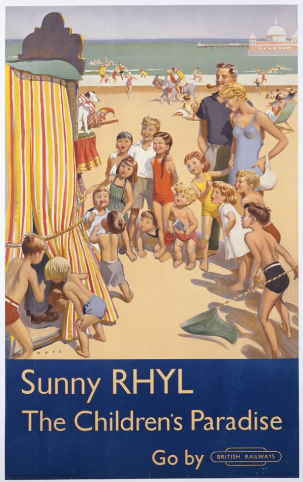 Sunny Rhyl, poster, Douglas Lionel Mays, 1952. Museum no. E.274-1952