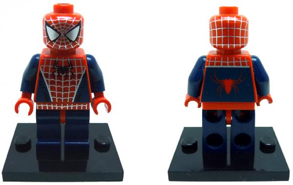 Lego Spider-Man, played by Tobey Maguire, from Spider-Man (2002). © Lego
