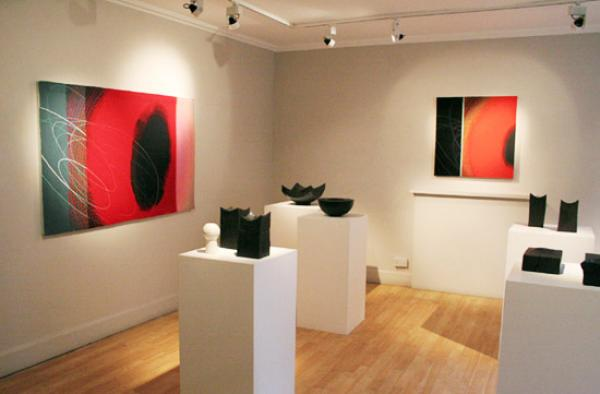 Jo Barker and Jim Partridge exhibition at The Scottish Gallery, Edinburgh, January 2009