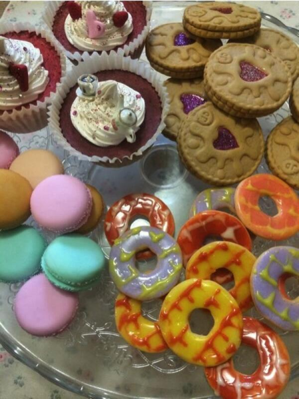 A selection of mouthwatering fake cakes and biscuits