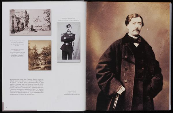 Pages showing photographs of Maurice from Christiane Sand, 'Maurice Sand, fils de George', 2010. NAL 38041010081115 © Victoria and Albert Museum, London]