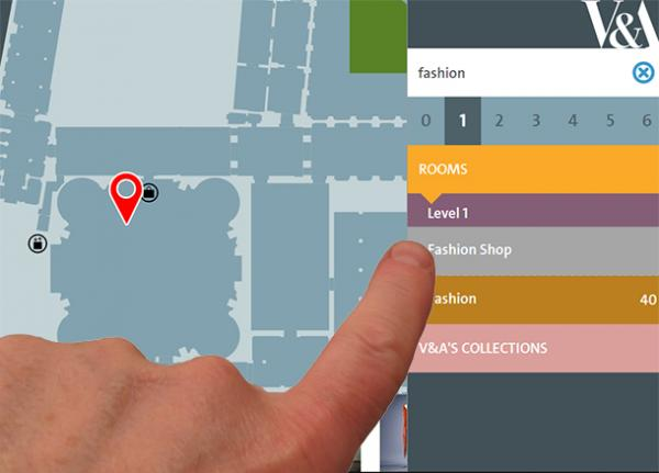 Touch to select on the V&A Digital Map