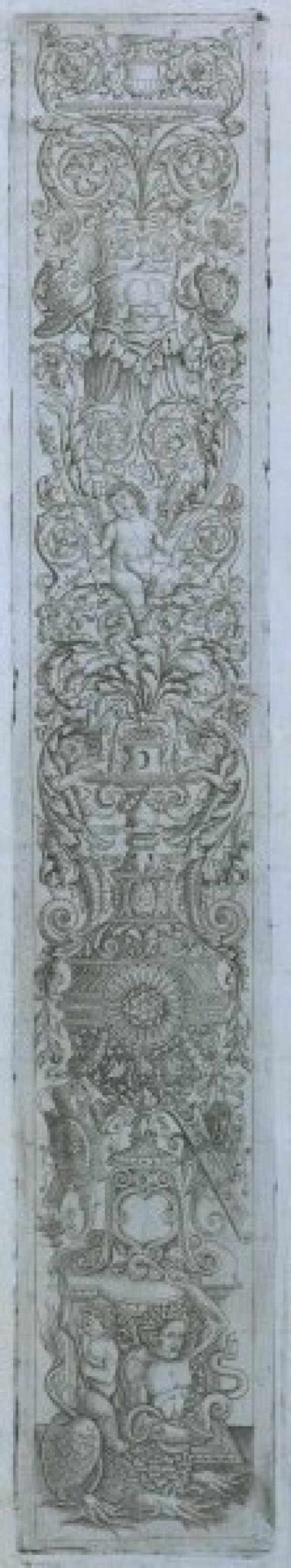 V&A inventory number E.2211-1920, Giovanni Pietro da Birago and Giovanni Antonio da Brescia, Plate from set of 12 ornamental pan