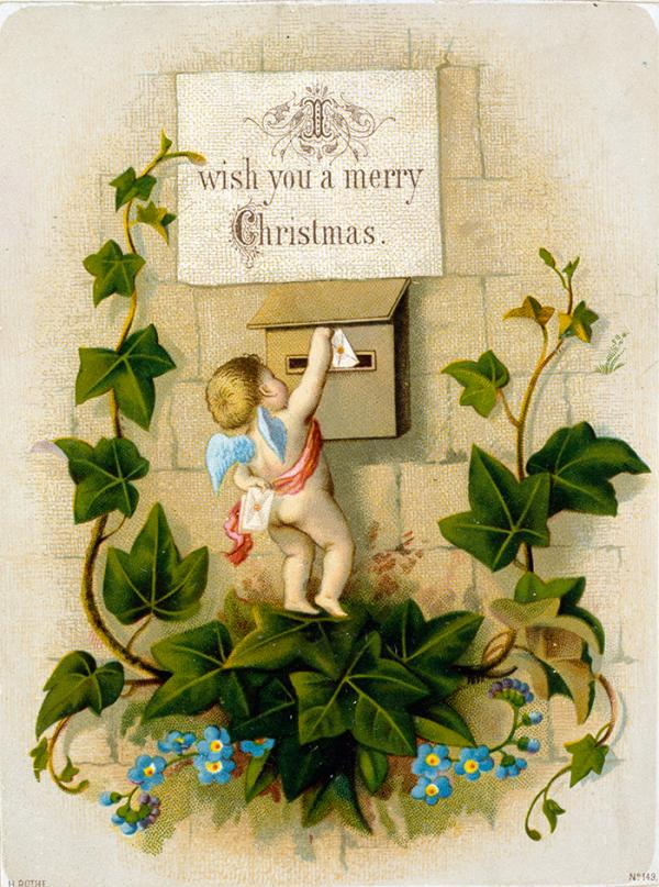 Christmas card, 1880s. Museum no. E.2669:201-1953. © Victoria and Albert Museum, London.