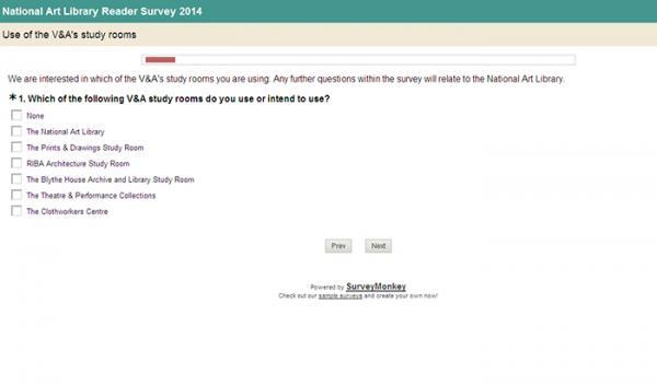 National Art Library Reader Survey