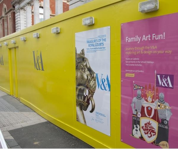 Hoardings outside the Exhibition Road works © Victoria and Albert Museum, London