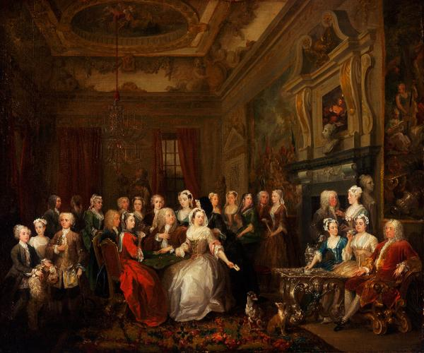 An Assembly at Wanstead by William Hogarth, 1728-31 Oil on canvas Philadelphia Museum of Art, The John Howard McFadden Collection, 1928