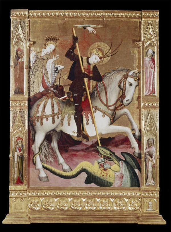 St George battles the dragon