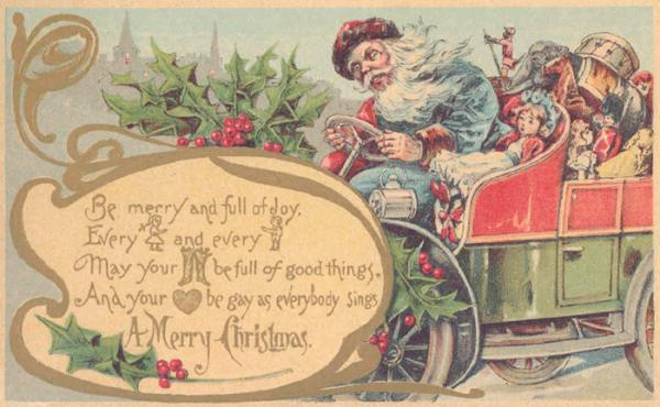 Christmas postcard, 1906. Museum no. B.121-1997. © Victoria and Albert Museum, London.